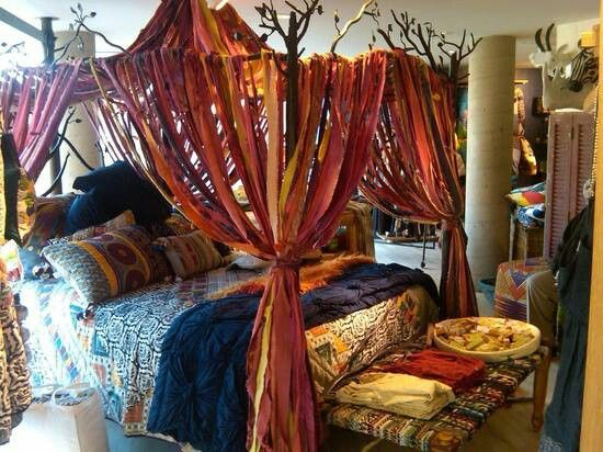 canopy bed posts. Gypsy bedroom Mostly I like the bed posts and would do a white linen instead