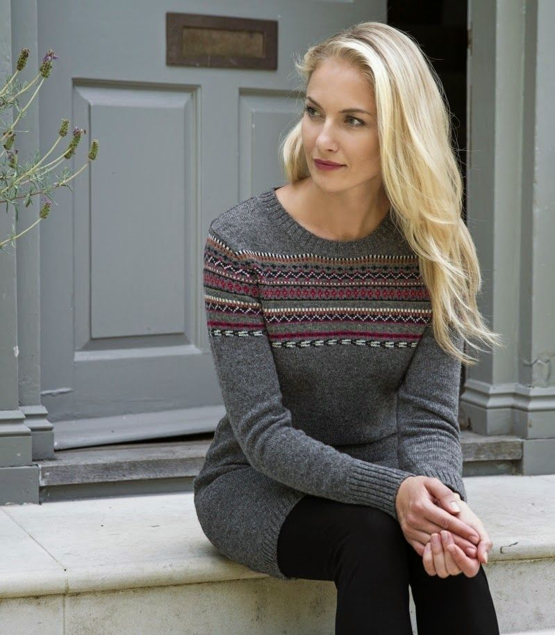 Woman & Art: LADIES FAIR ISLE JUMPER DRESS | Things to Wear ...