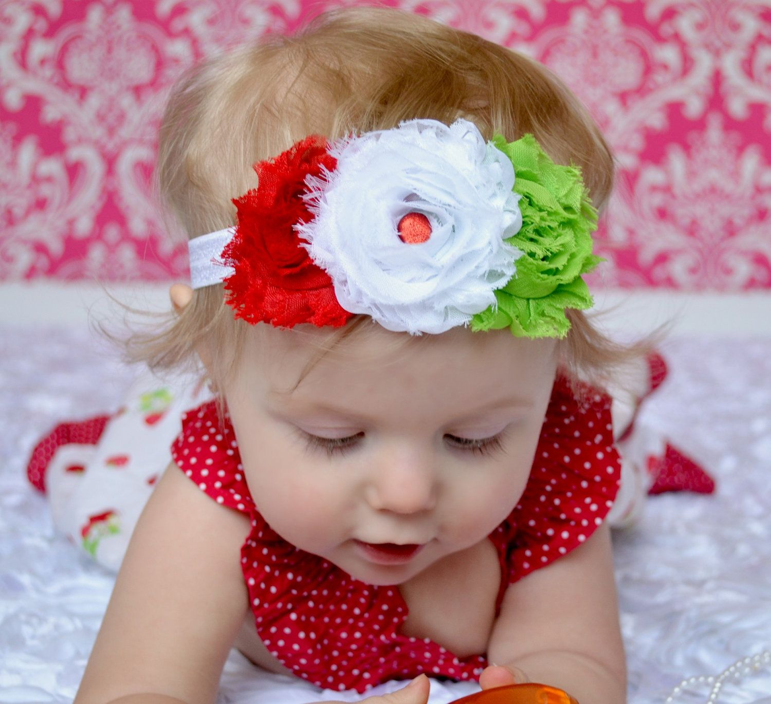 Macys baby hair accessories - Strawberry Headband Baby Headbands Shabby Flower By Spoilednsweet Cute Christmas Present For Lil Cousin Baby Macy