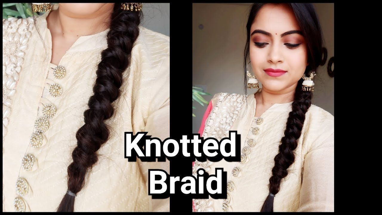 knotted braid//easy indian wedding guest hairstyle// party