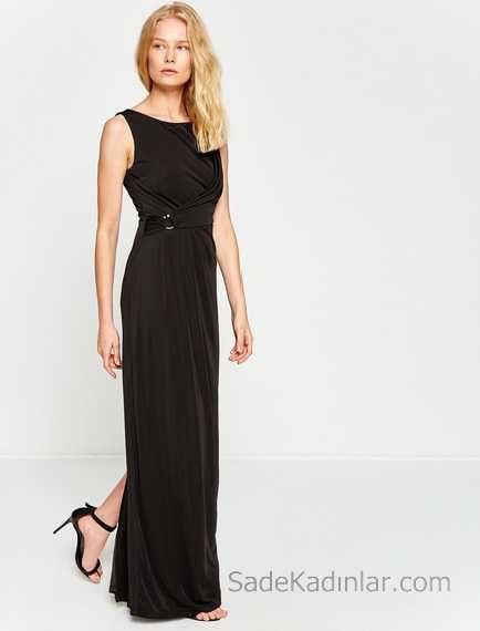 2018 Koton Elbise Modelleri Gri Triko Kisa Kollu Sac Orgulu Kazak Elbise Elbise Modelleri The Dress
