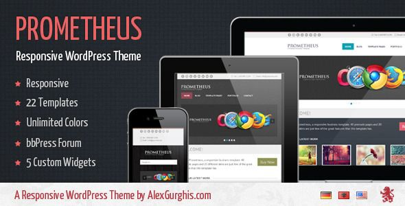 Prometheus is responsive business template. 22 Template pages and ...