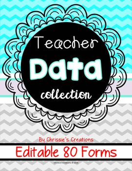 teacher data binder with intervention and data forms editable