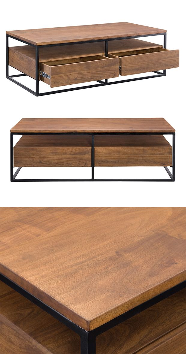 With a clean, contemporary design, this cocktail table is sure to anchor your modern…
