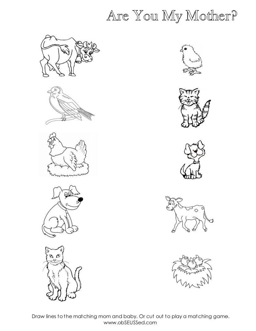 Are You My Mother Worksheet Scribd – Baby Animal Names Worksheet