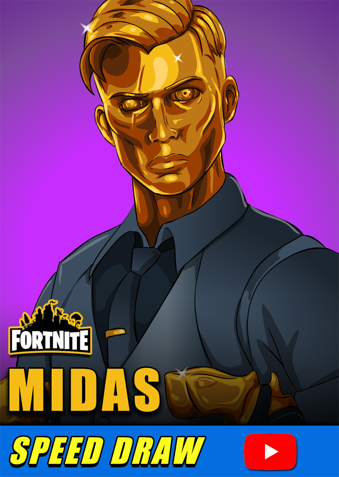 Watch Me Draw Midas On Youtube From Fortnite Battle Royale