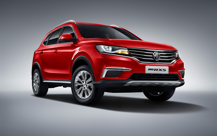 Download Wallpapers Mg Rx5 2018 Red Crossover Chinese Cars New