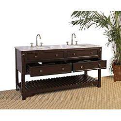 Granite Top 68 Inch Double Sink Bathroom Vanity