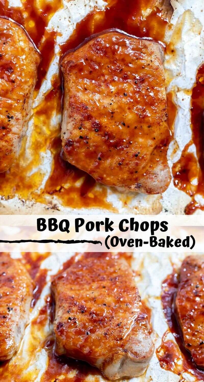 BBQ PORK CHOPS IN OVEN!!! + WonkyWonderful