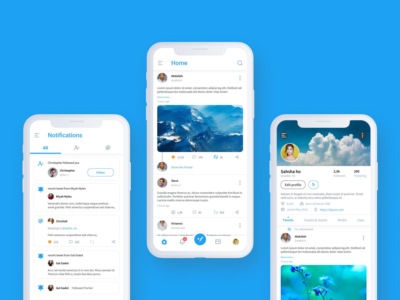 Twitter Redesign Challenge In 2020 Twitter Design Social App Design App Design