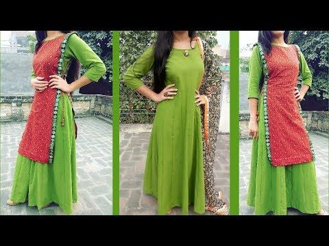 Transform Old Saree To Asymmetric Frock Style Kurti With Attached Koti  Cutting And Stitching - YouTube 1137562e9