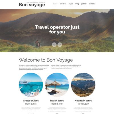 Bon Voyage - Travel Agency \ Vacation planning Responsive Joomla - vacation planning template