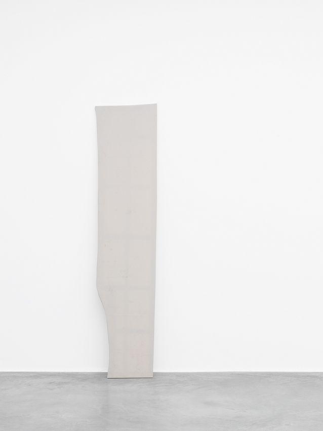 lafilleblanc: Jacob Kassay Untitled, 2012 toile, 220 x 47 x 2,5 cmcanvas, 86 5/8 x 18 1/2 x 1Galerie Xavier HufkensBruxelles (via)