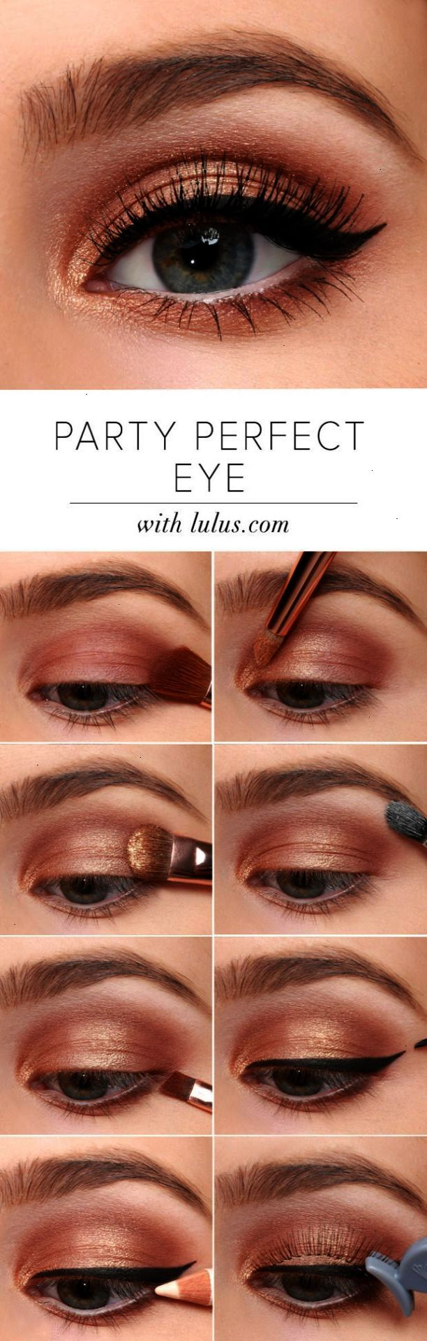 Howto party perfect eye makeup tutorial makeup pinterest