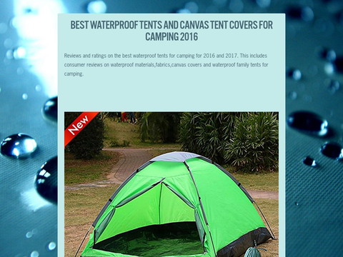Best Waterproof Tents and Canvas Tent Covers for C&ing 2016 & Best Waterproof Tents and Canvas Tent Covers for Camping 2016 ...