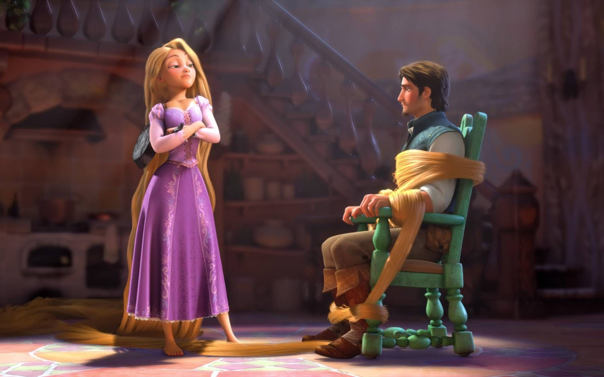 Tangled, Rapunzel and Flynn Rider