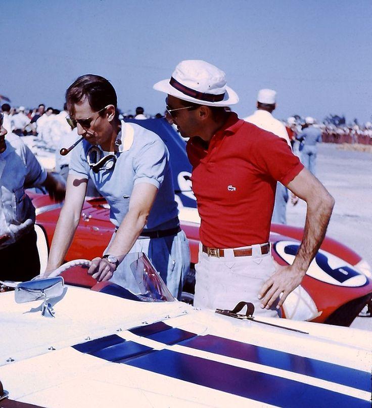 """cadot:  """"Colorblock"""" Sebring 1956, John Fitch and Alfonso de Portago"""