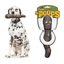 Mr. Poops Dog Toy by Tuffys -  Mr. Poops is super tough and has a massively fun squeaker within. $7.99 - $12.99 #twobostons #tuffys