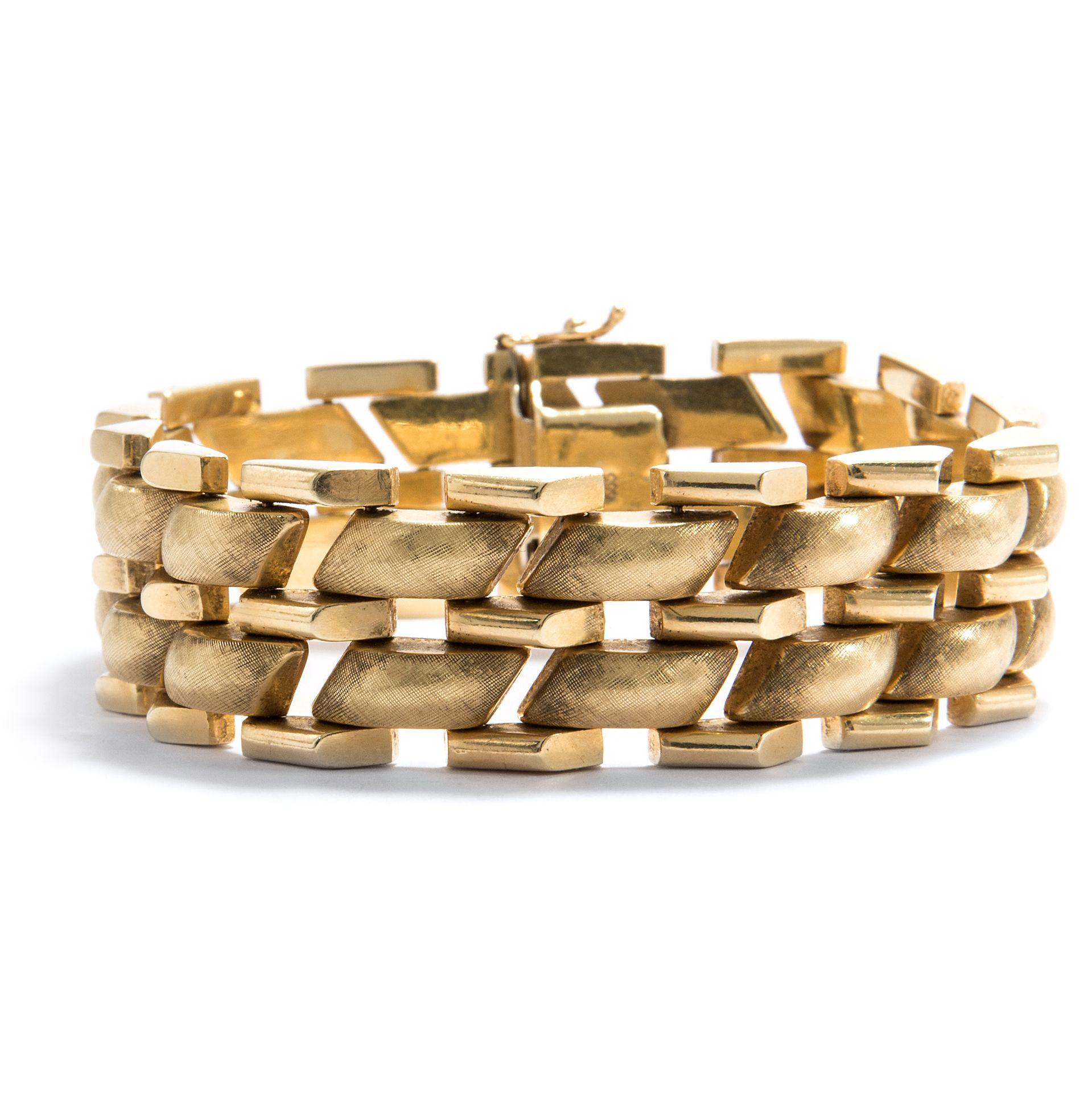 be2e59dcfa03 Go for Gold - Elegantes vintage Armband aus 14-Karat Gold, BRD 1960er Jahre