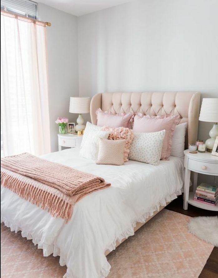 1001 conseils et id es pour une chambre en rose et gris sublime d coration chambre fille. Black Bedroom Furniture Sets. Home Design Ideas