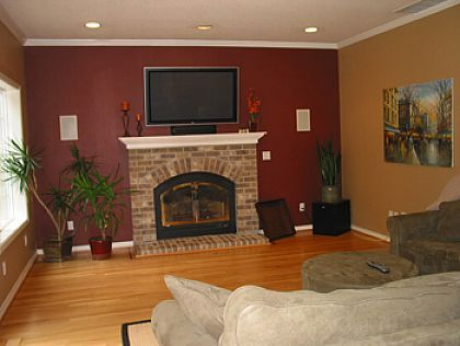 Accent wall paint colors ideas painted accent walls color - Burnt orange feature wall living room ...