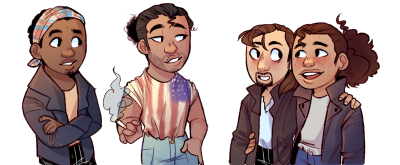 yamhaylet:  greaser AU commission for @trashheaux!   GuYS i forgot lafayettes beard pls reblog this version instead,, ,,