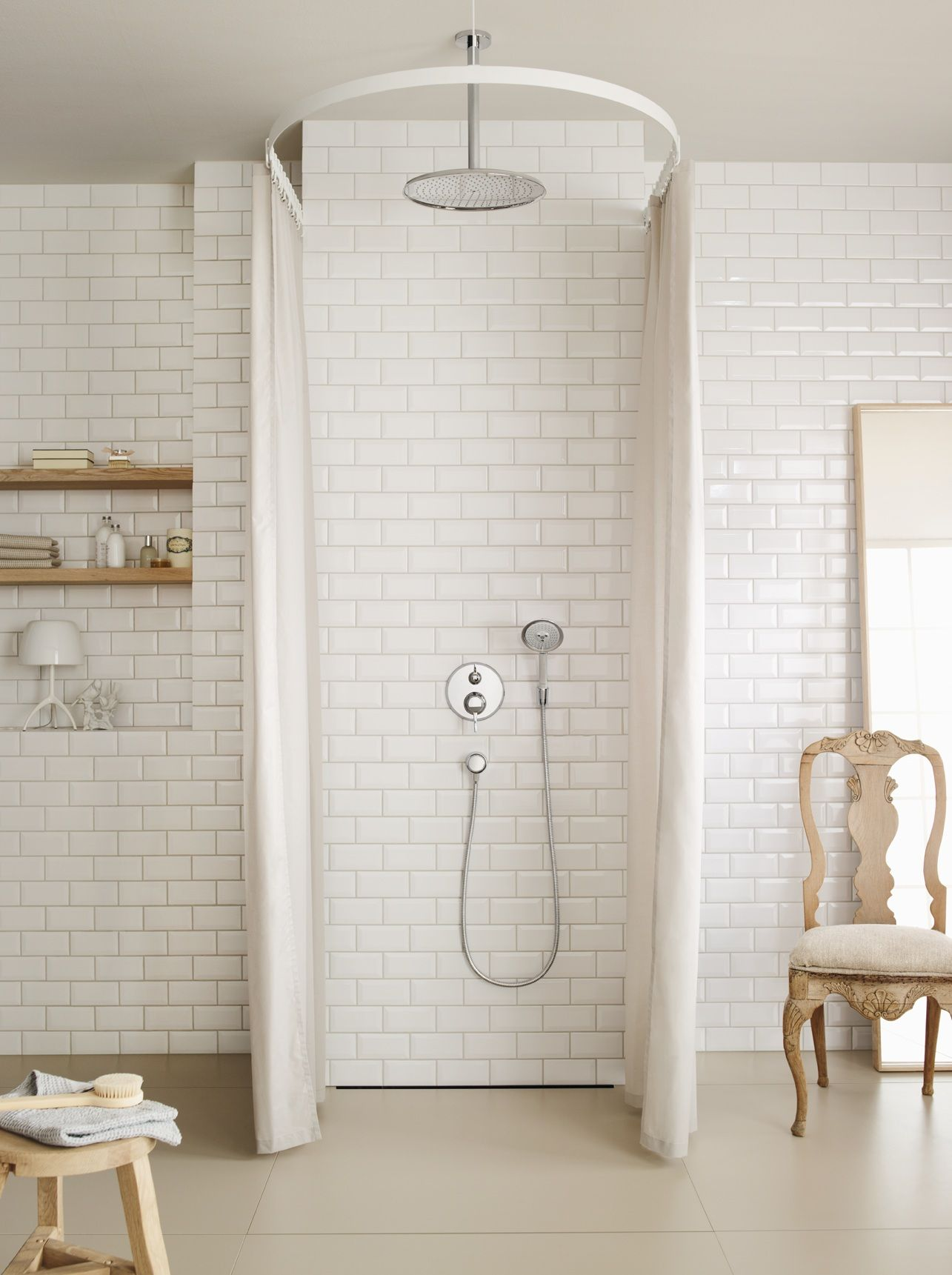 Classic Bathroom Design Classic Bathroom Design Hansgrohe Raindance Overhead Shower