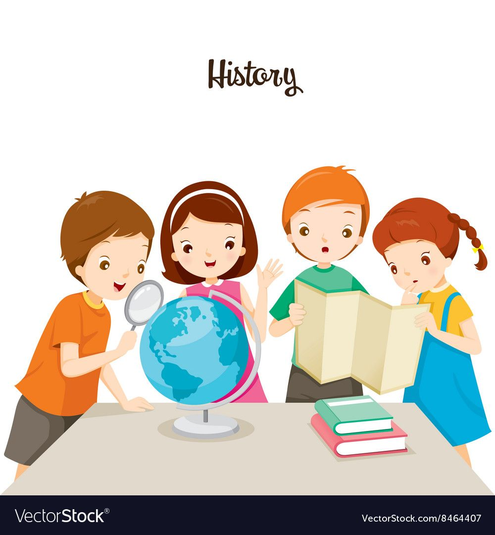 Children in history class royalty free vector image
