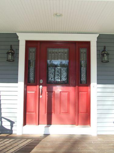 Merveilleux Front Entry Door With Fypon Door Trim Kit