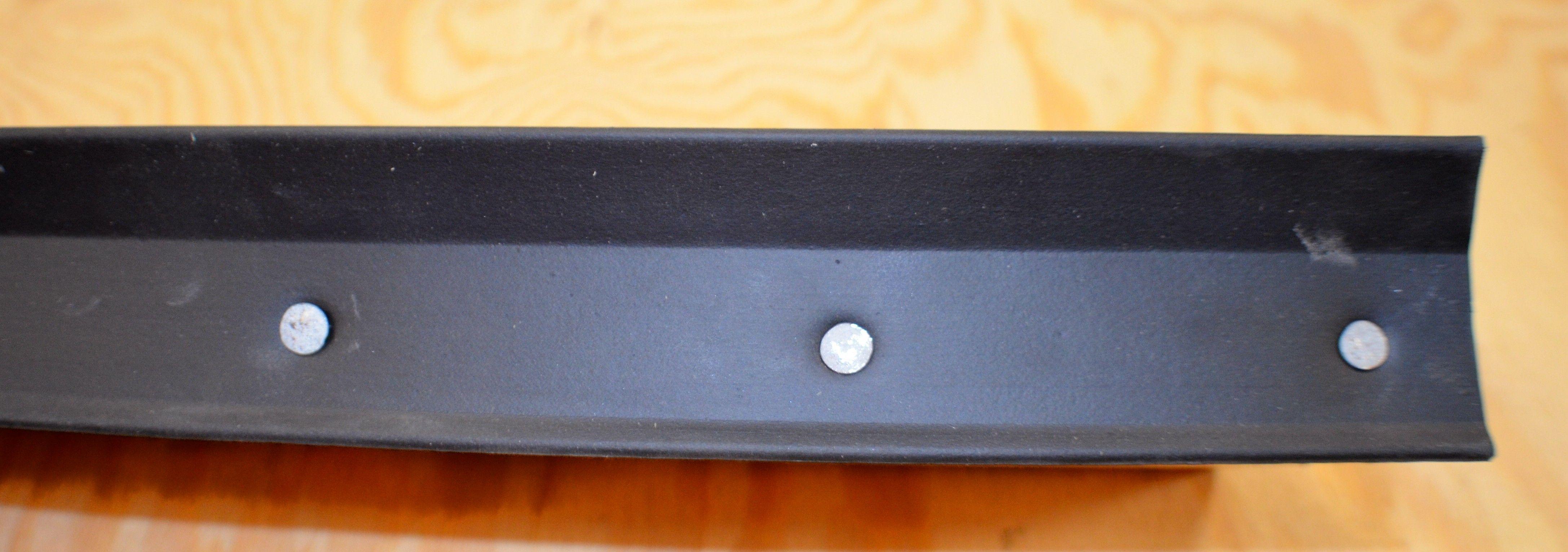 The Stylish Wood Garage Door Nail On Bottom Seal Pertaining To