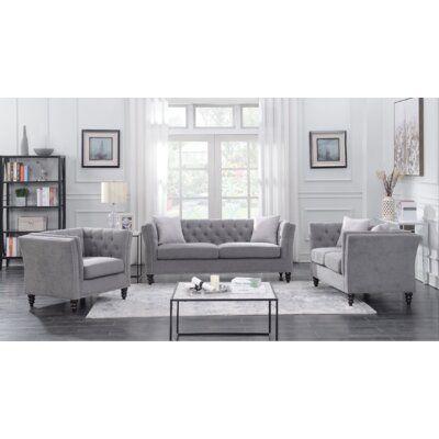 House of Hampton® Clem 3 Piece Living Room Set   Wayfair.ca