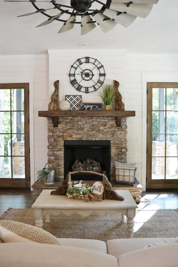 Metal Clock - 30 inch - Farmhouse Decor - Farmhouse Clock - Clock - Fireplace Mantel - Simply Inspired - Housewarming Gift - Wedding Gift images