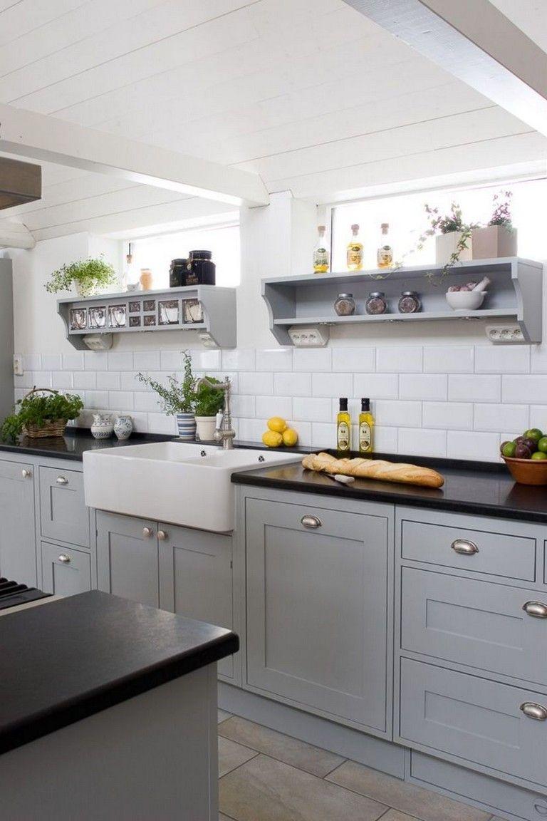 40 Fashionable Dark Grey Kitchen Design Ideas Kitchendesign Kitchenideas Kitchenre Shaker Style Kitchen Cabinets Kitchen Cabinet Styles Grey Shaker Kitchen