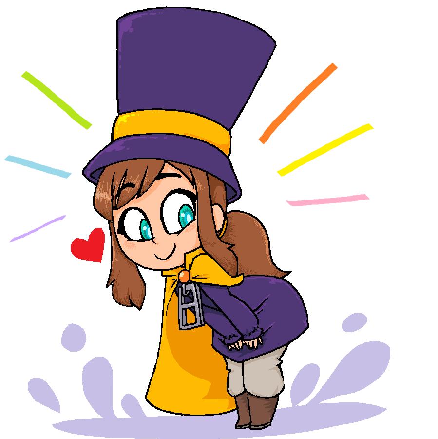 Cute Up Of Hat Kid A Hat In Time A Hat In Time Character Art Cute Pins