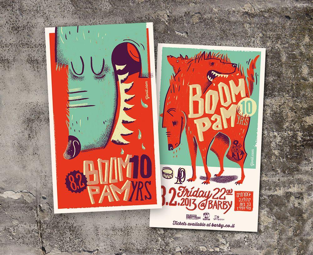 Boom pam posters pinterest 10 anniversary graphic design