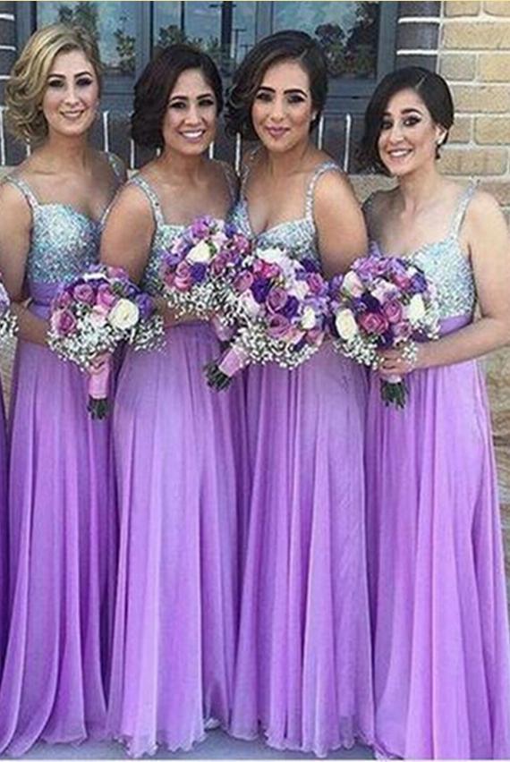 Chiffon Bridesmaid Dress,Lilac Bridesmaid Gown,Bridesmaid Gowns ...