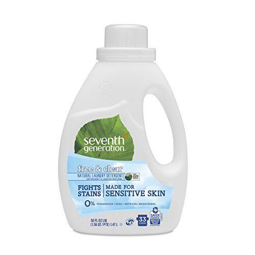 Seventh Generation Natural Liquid Laundry Detergent 50 Oz Free Clear Ch Seventh Generation Laundry Detergent Natural Laundry Detergent Laundry Detergent