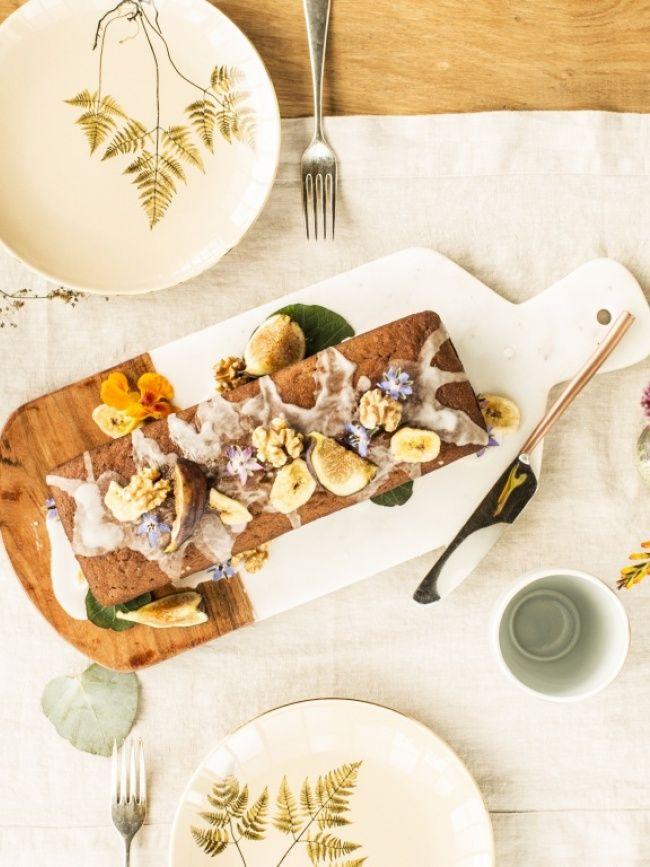 Lecker Bananen Walnuss Kuchen Mit Borretsch