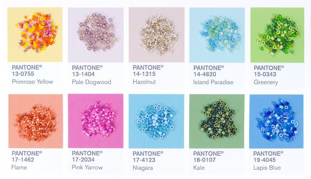 Pantone Spring 2017 colors paired with Artbeads Designer Seed Bead Blends!