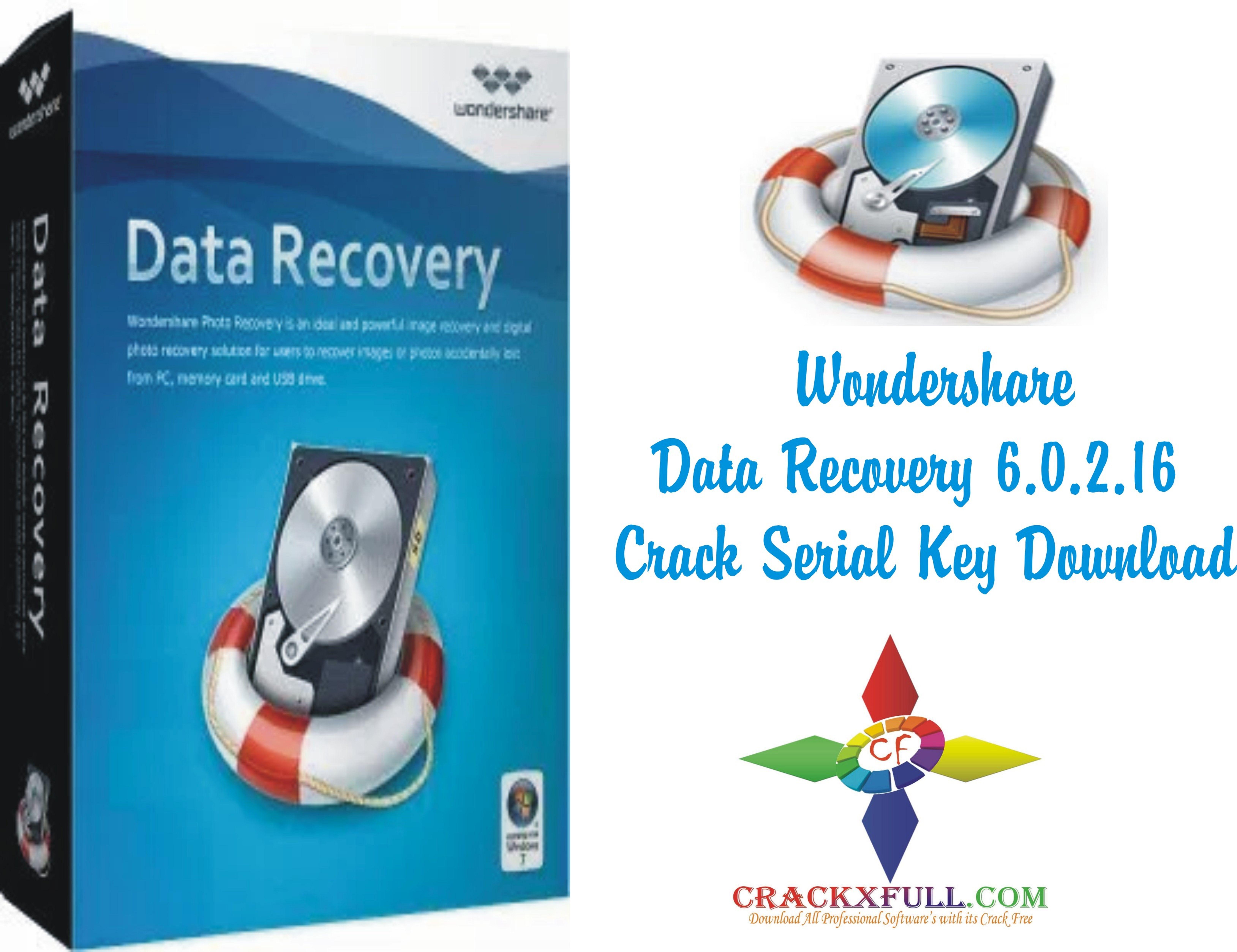 Wondershare Data Recovery 6 0 2 16 Crack Serial Key Download
