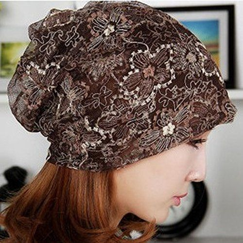 2bc671747d709 Qunson Lace Beanie Hat Cap Turban for Women