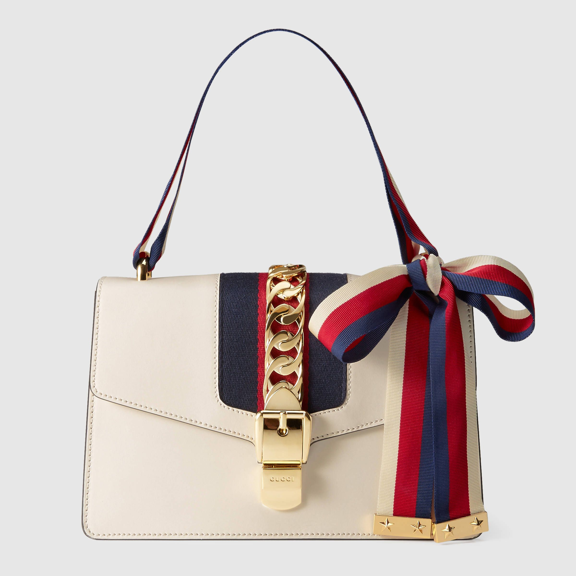 d44bbbe9bdc5 Gucci Women - Sylvie leather shoulder bag - 421882CVLEG8605