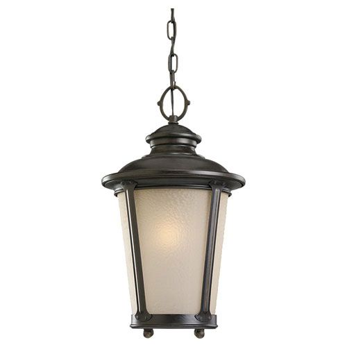 Cape May Burled Iron Energy Star Fluorescent Outdoor Pendant