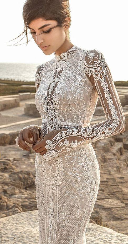 Galia Lahav Wedding Dress Inspiration #bohoweddingdress