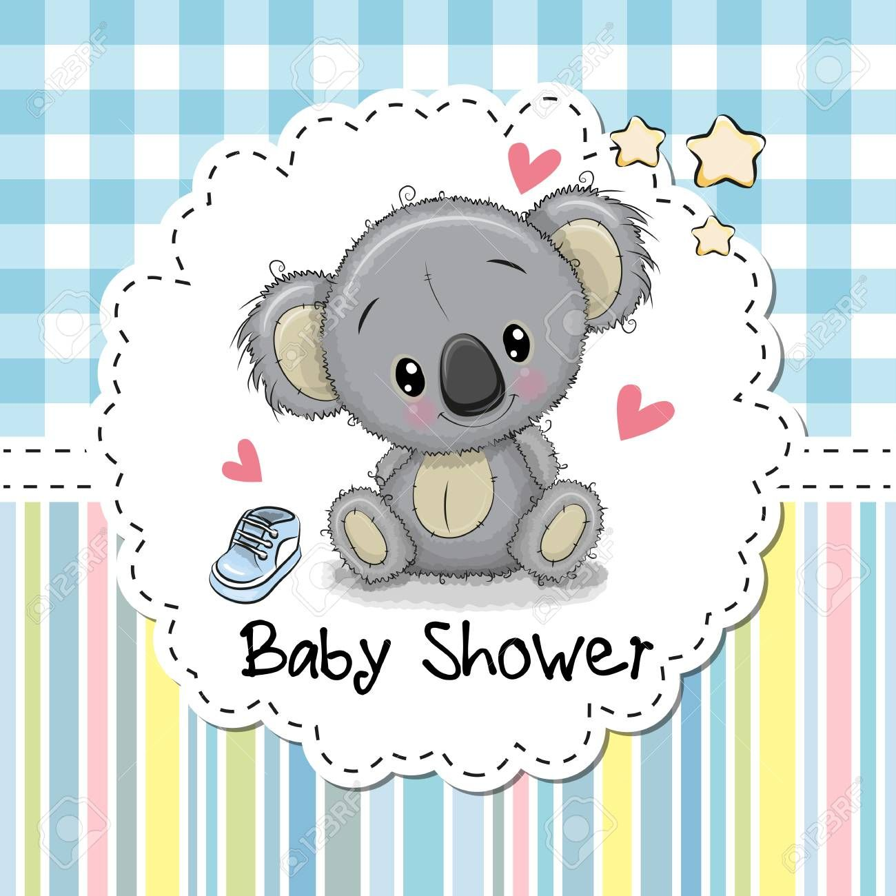 Baby Shower Greeting Card With Cute Cartoon Koala Boy Ad Greeting Card Baby Shower Koala Baby Shower Greetings Baby Shower Greeting Cards Koala