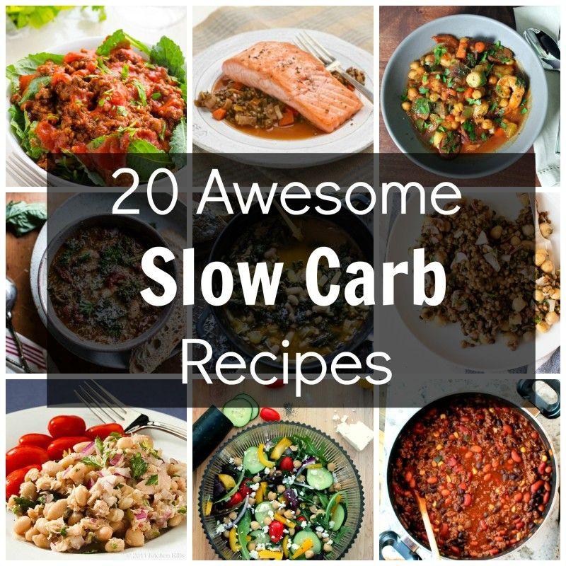 slow carb diet cookbok