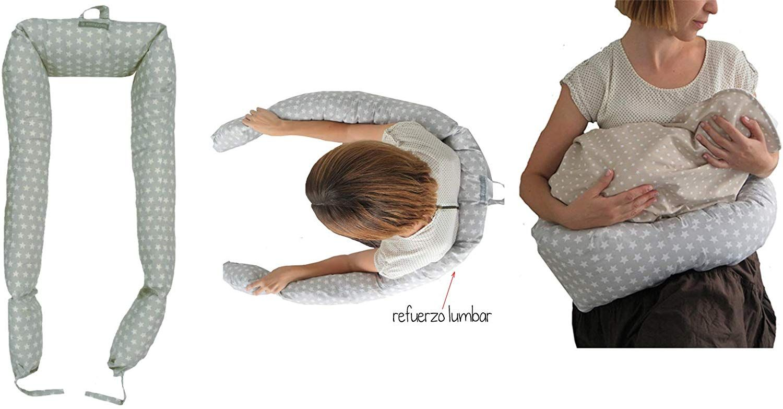 Reductor protector cil/índrico para cuna desenfundable varias formas y medidas para reducir la cuna de tu beb/é Fantasia stellina beige Babysanity