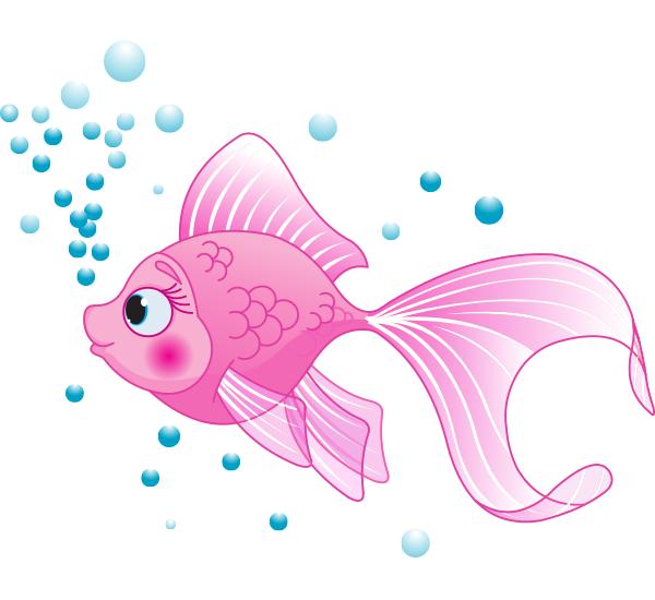 Pink Fish Cute Fish Pink Fish Fish Vector
