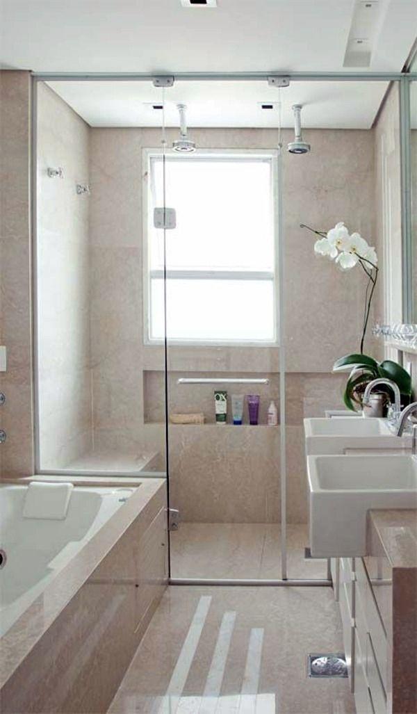 Kleine badkamer set - neem de uitdaging! | Bathroom | Pinterest ...