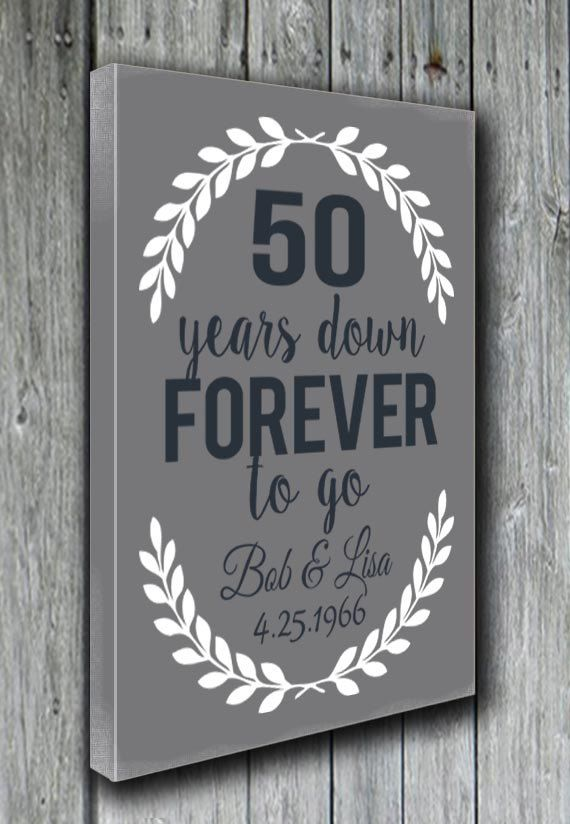 50th Anniversary Gift Grandparents By Doudouswooddesign On Etsy